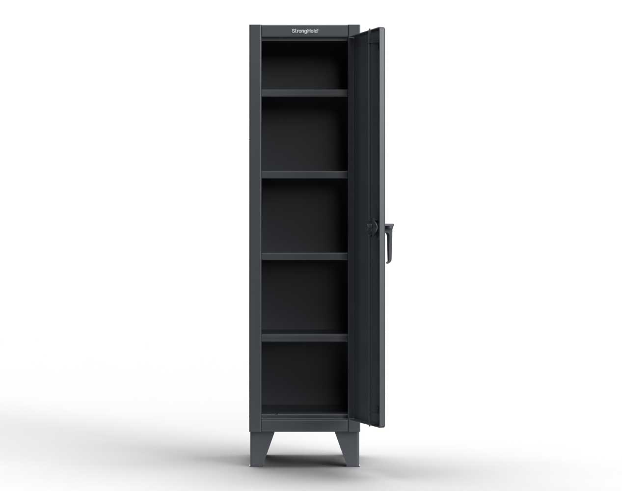 Extra Heavy Duty 12 GA Single-Tier Locker with 1 Compartment, 4 Shelves, 18 in. W x 18in. D x 72 in. H