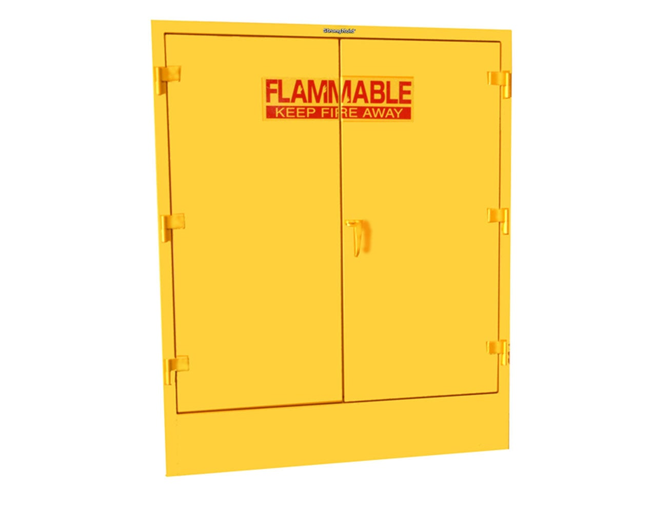Extra Heavy Duty 12 GA 110 Gallon Double Drum Flammable Safety Cabinet with Manual-Closing Doors, 2 Shelves – 58 In. W x 30 In. D x 72 In. H