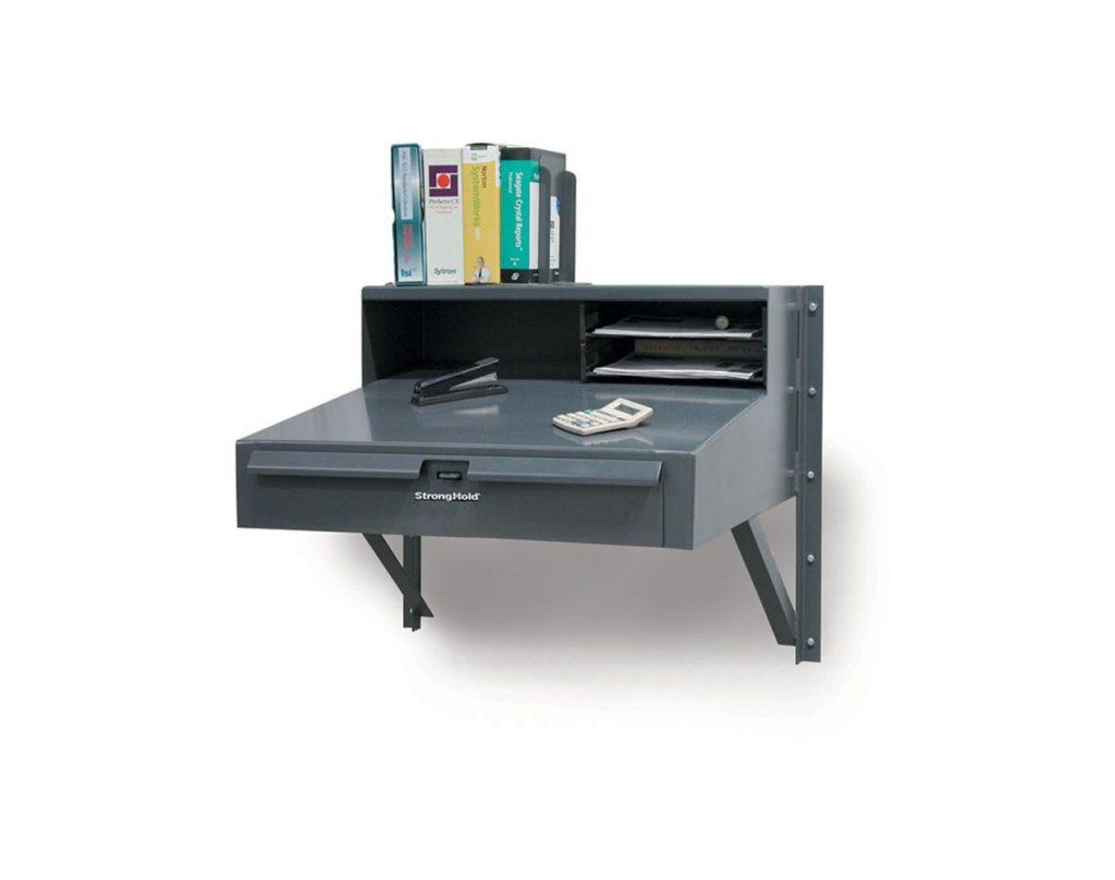 12 GA Stainless Steel Extra Heavy Duty Wall Mounted Shop Desk