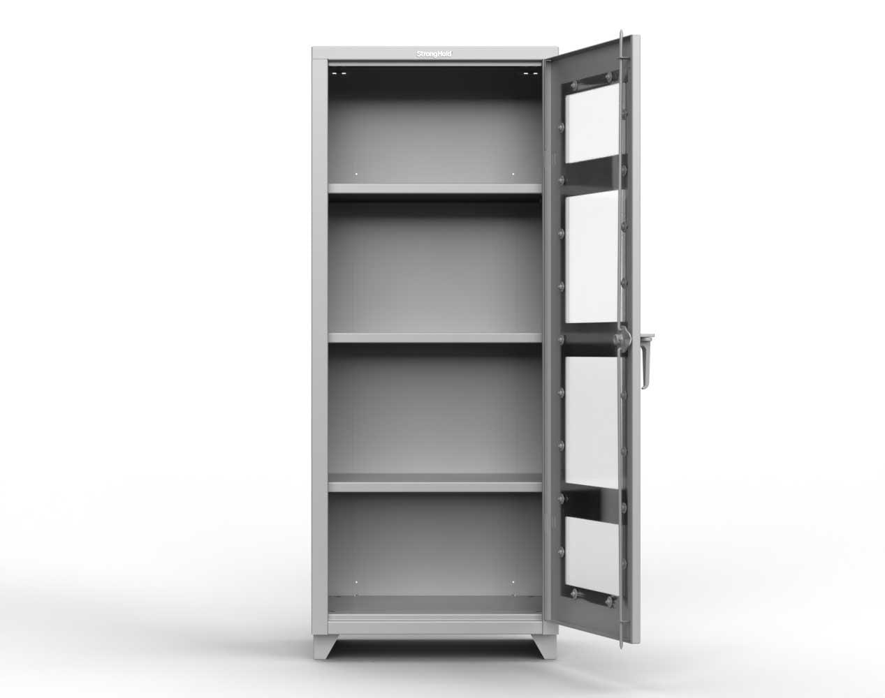 Heavy Duty 14 GA Clear View Cabinet, Single Door – 30 In. W x 24 In. D x 75 In. H