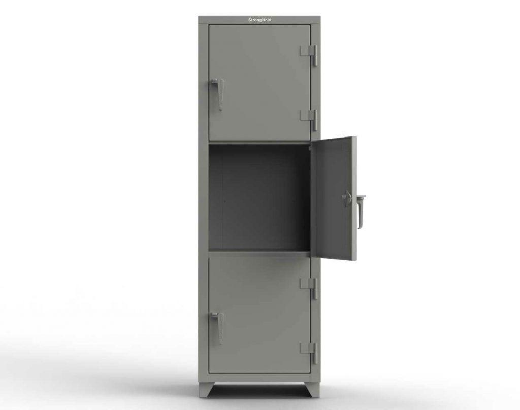 14 GA Triple-Tier Locker - 3 Compartments
