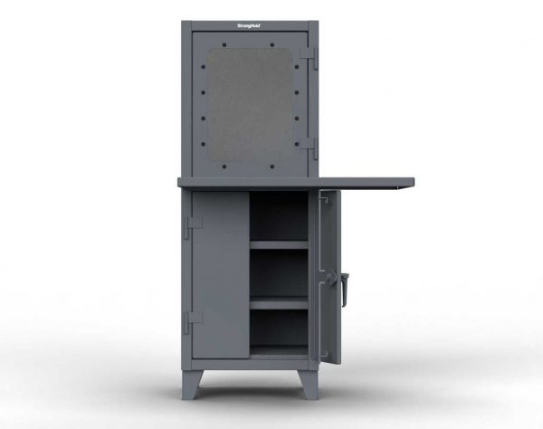 12 GA Computer Cabinet with 2 Welded Shelves