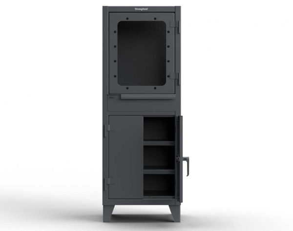 12 GA Computer Cabinet with Retractable Keyboard