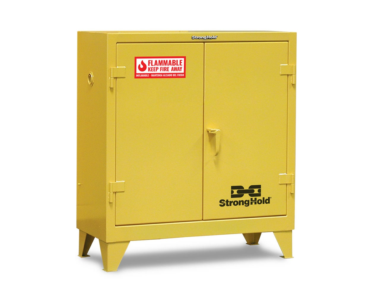 Extra Heavy Duty 12 GA 30 Gallon Flammable Safety Cabinet with Manual-Closing Doors, 2 Shelves – 44 In. W x 18 In. D x 49 In. H