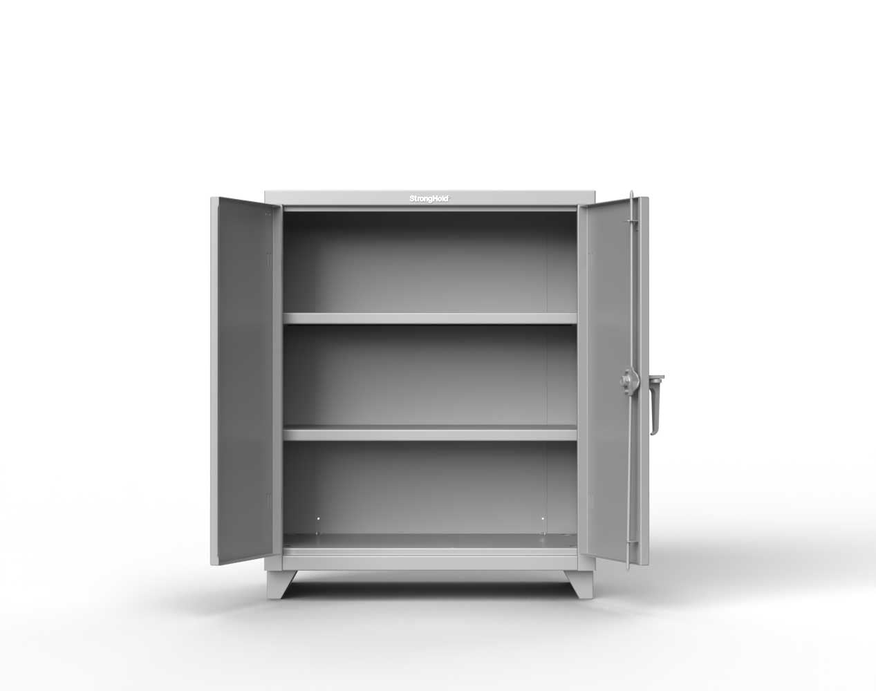 Heavy Duty 14 GA Counter-Height Cabinet with 2 Shelves – 36 In. W x 24 In. D x 42 In. H