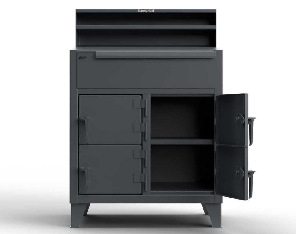 12 GA Extra Heavy Duty Shop Desk with 4 Doors