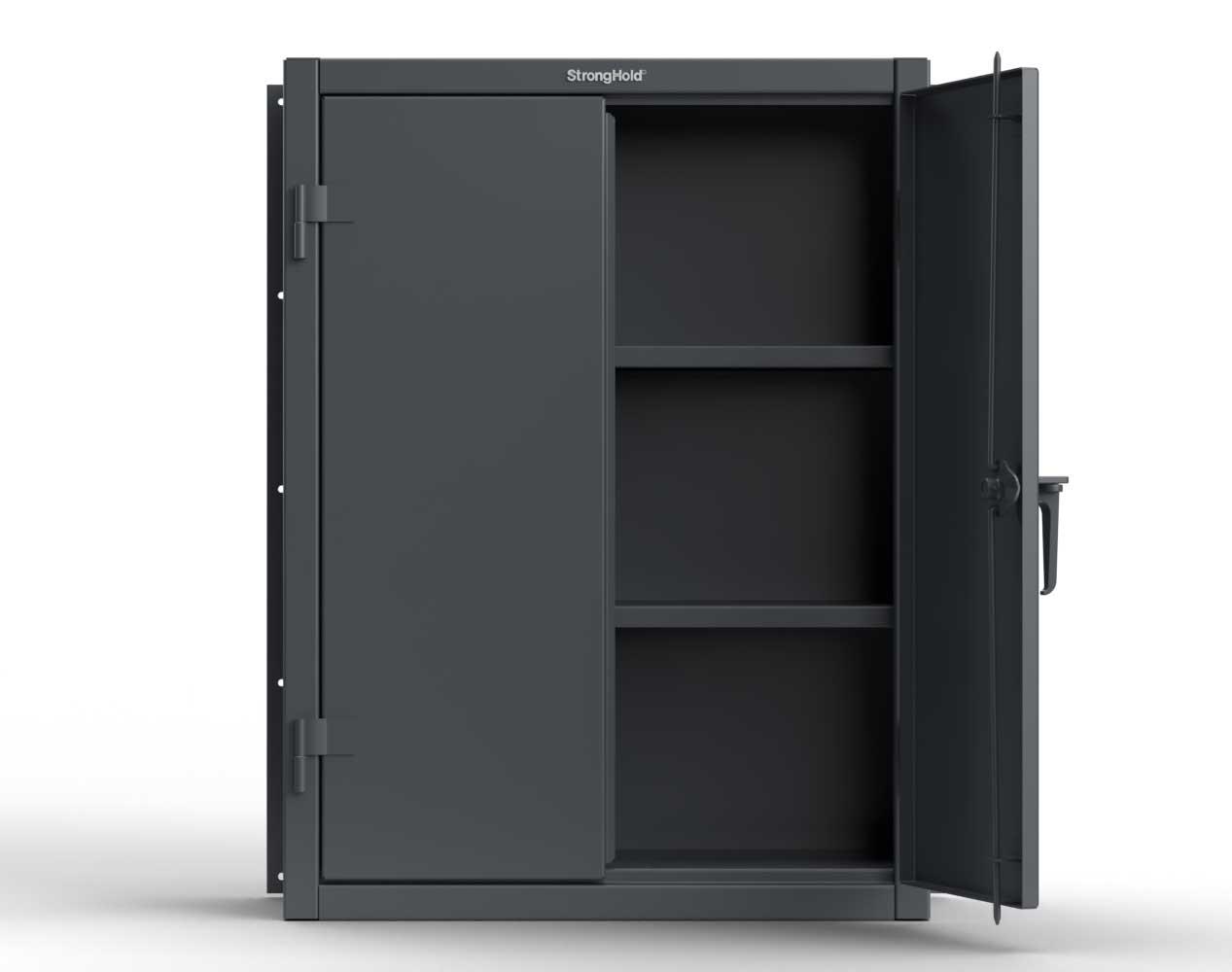 Extra Heavy Duty 12 GA Wall Mounted Cabinet, 2 Shelves – 36 In. W x 14 In. D x 48 In. H
