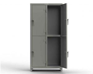 14 GA Double-Tier Locker - 4 Compartments