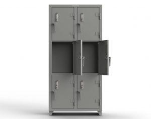 14 GA Triple-Tier Locker with Keyless Entry Lock