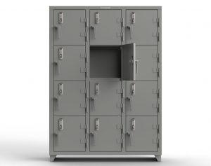 14 GA 4-Tier Locker with Keyless Entry Lock