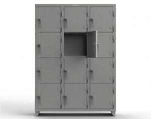 14 GA 4-Tier Locker - 12 Compartments