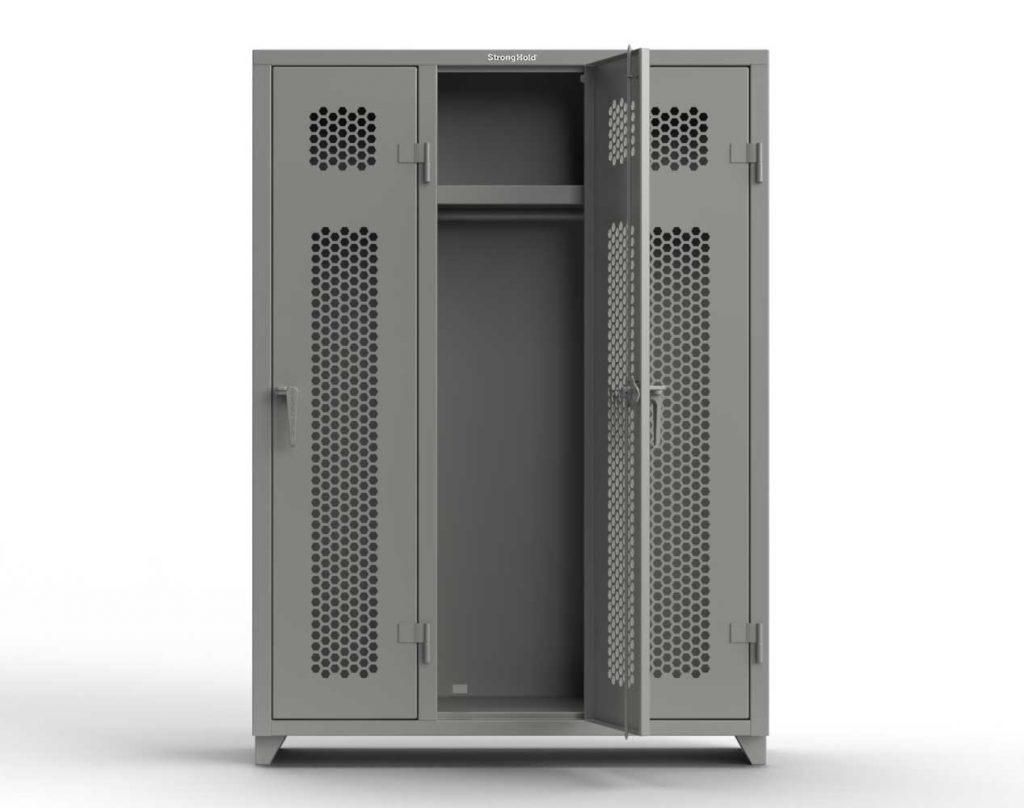 Ventilated 14 GA Single-Tier Lockers - 3 Compartments
