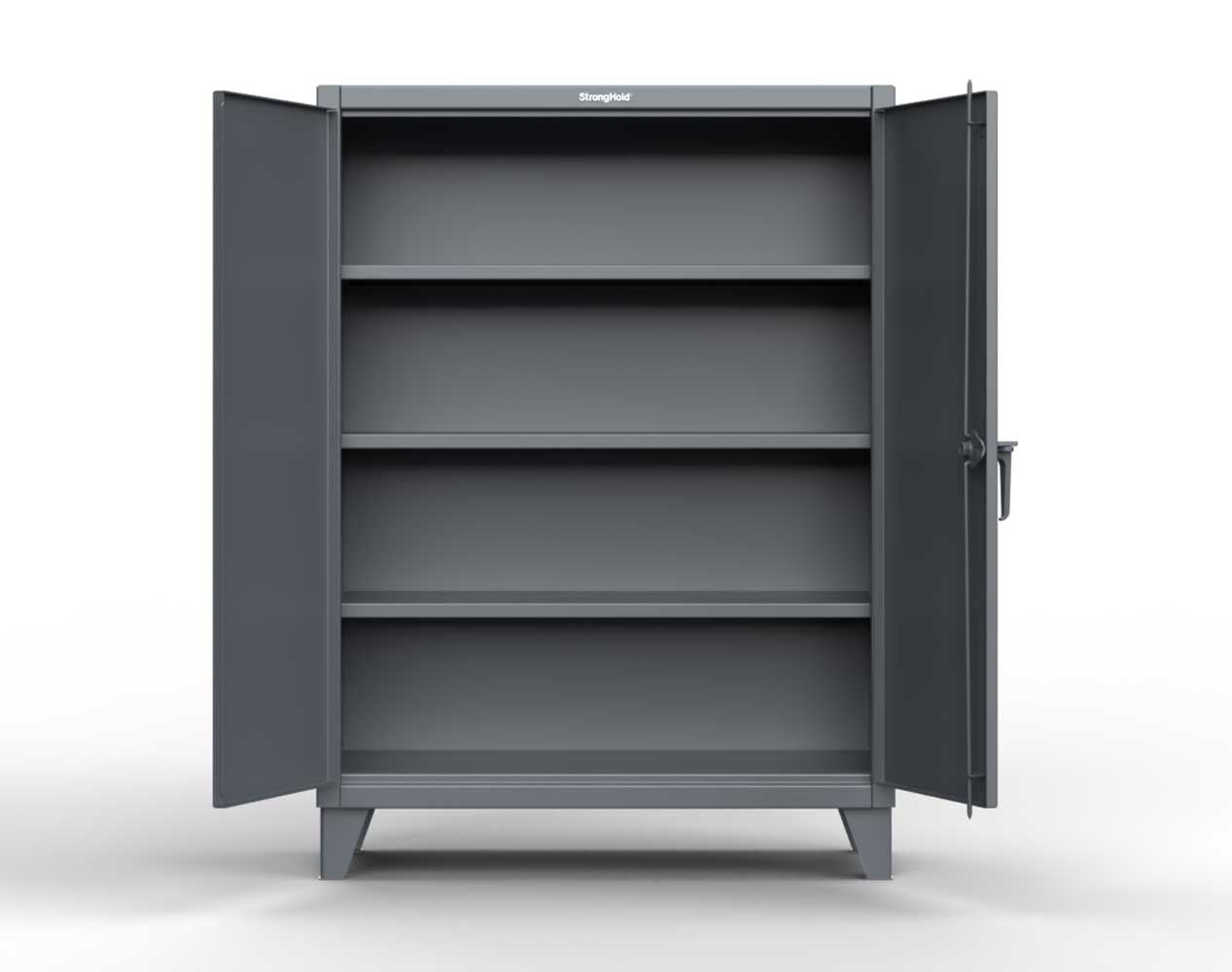 Extra Heavy Duty 12 GA Cabinet with 3 Shelves – 48 In. W x 24 In. D x 66 In. H