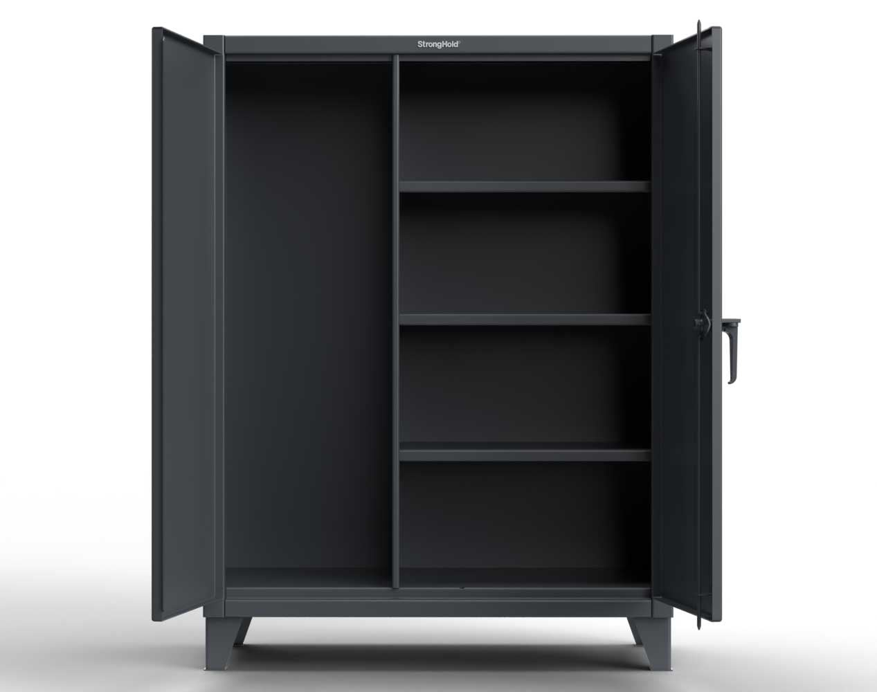Extreme Duty 12 GA Janitorial Cabinet with 3 Shelves – 48 In. W x 24 In. D x 66 In. H
