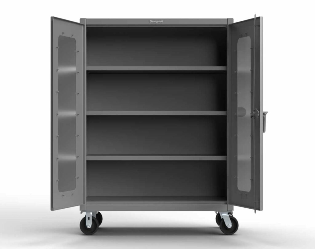 14 GA Heavy Duty Mobile Clearview Cabinet