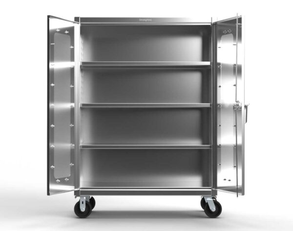 12 GA Stainless Steel Mobile Medical Cabinet