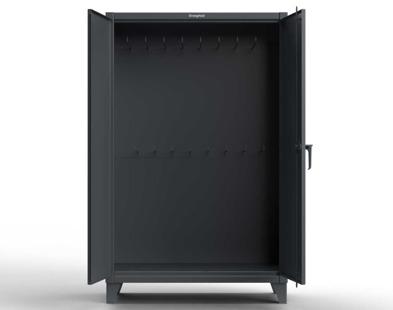 Extra Heavy Duty 12 GA Cabinet with 24 Hooks – 72 In. W x 24 In. D x 78 In. H