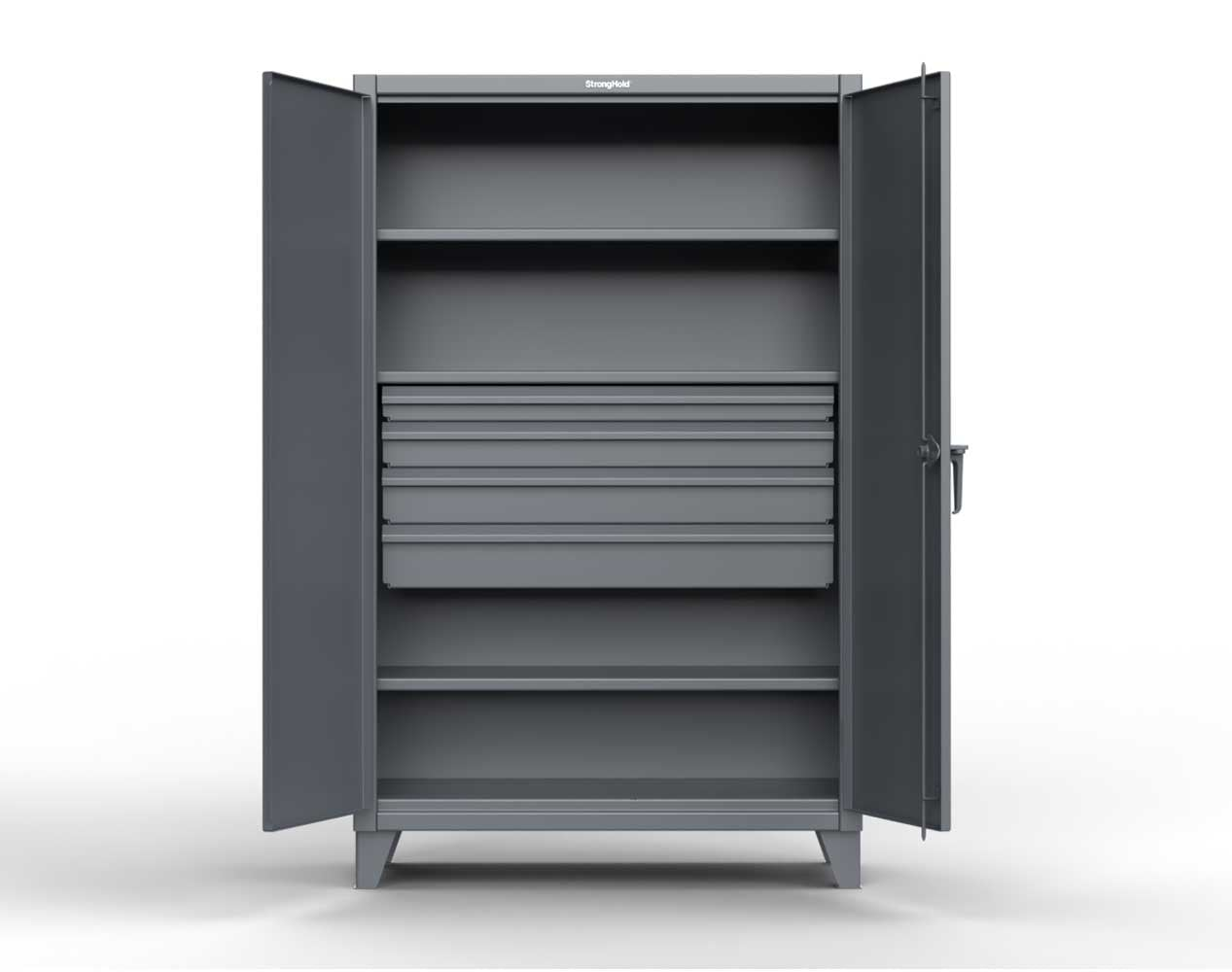 Extreme Duty 12 GA Cabinet with 4 Drawers, 3 Shelves – 36 In. W x 24 In. D x 78 In. H