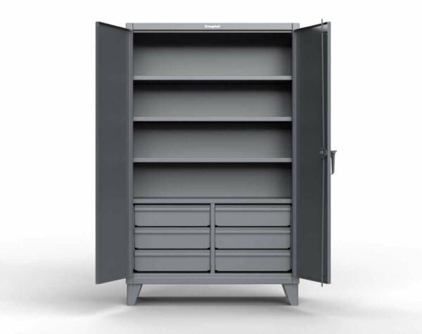 12 GA Heavy Duty Cabinet with Half-Width Drawers