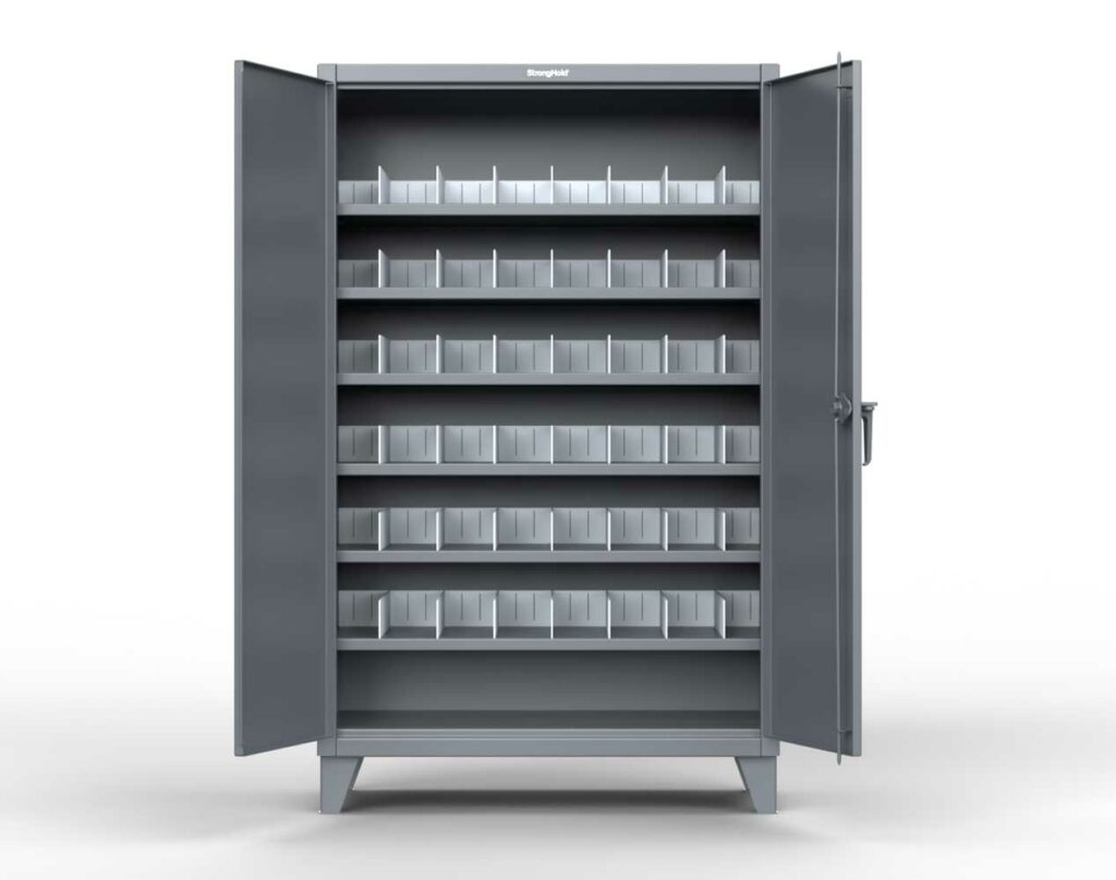 12 GA Industrial Cabinet with Vertical Dividers
