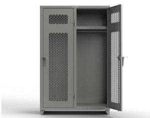 Ventilated 14 GA Single-Tier Lockers - 2 Compartments