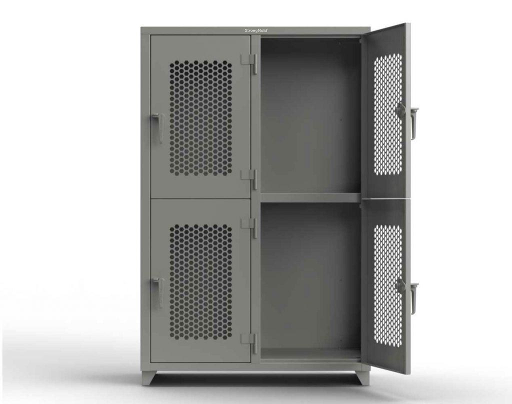 Ventilated 14 GA Double-Tier Locker - 4 Compartments