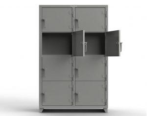 14 GA 4-Tier Locker - 8 Compartments