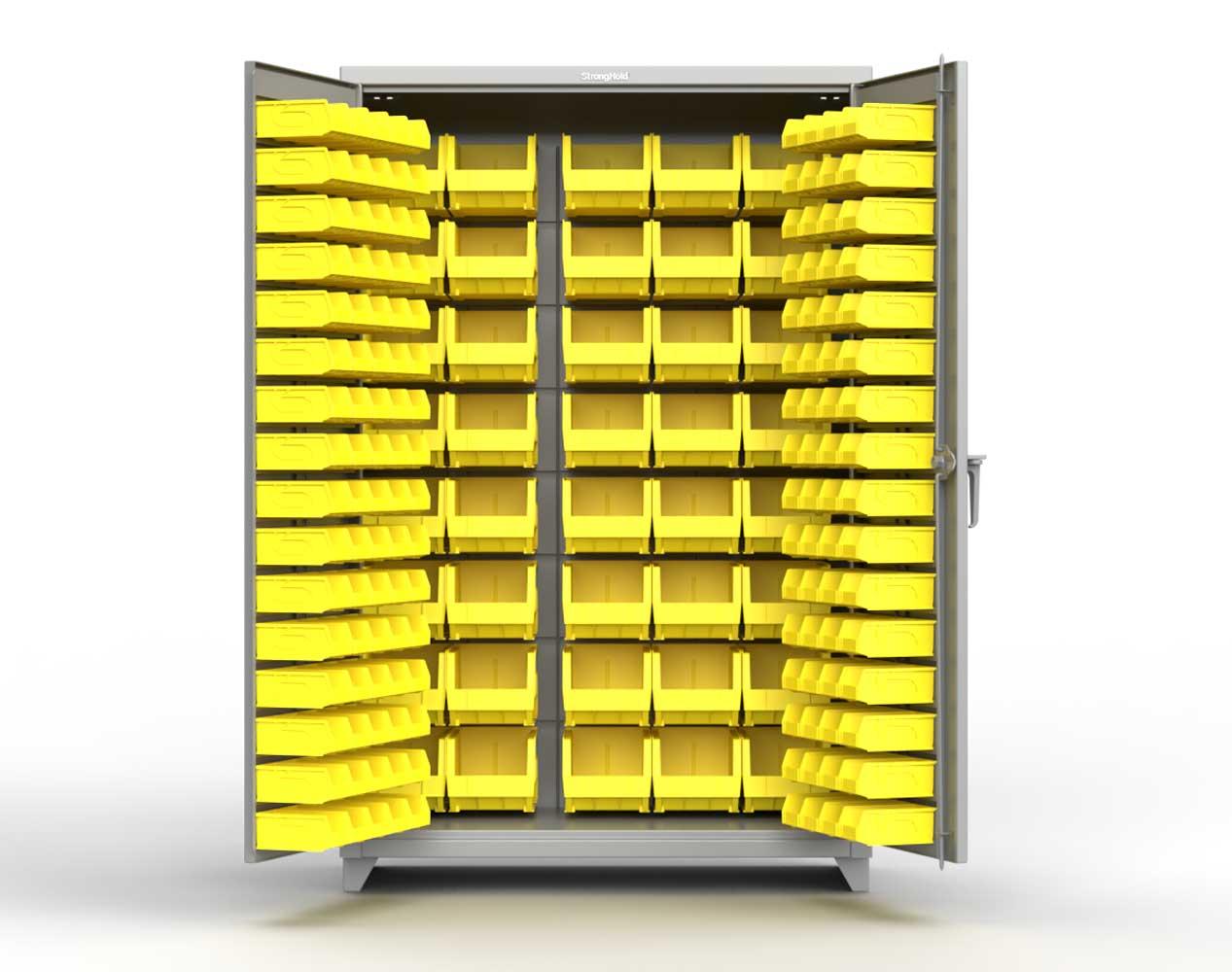 Extra Heavy Duty 14 GA All Bin Cabinet – 36 In. W x 24 In. D x 75 In. H