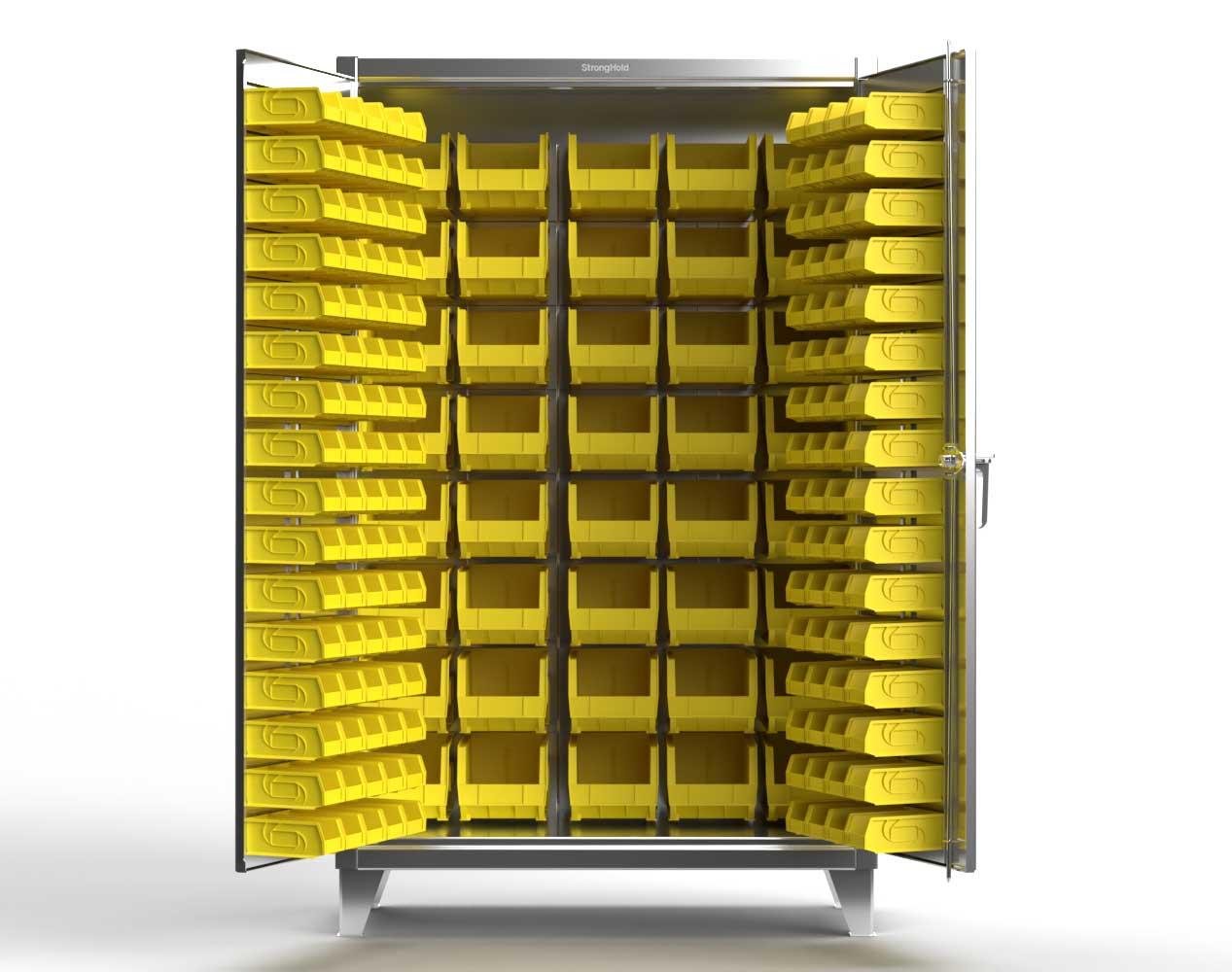 Extra Heavy Duty 12 GA Stainless Steel All Bin Cabinet – 36 In. W x 24 In. D x 78 In. H