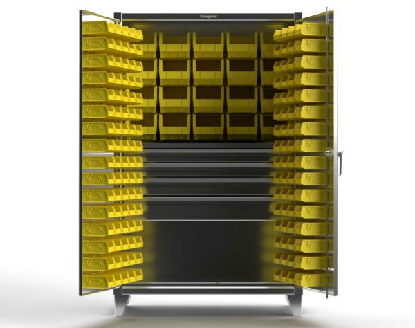 12 GA Stainless Steel Bin Cabinet with Drawers