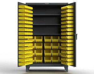 12 GA Industrial Bin Cabinet with 3 Shelves