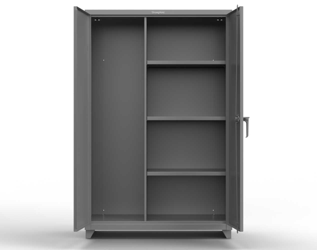Heavy Duty 14 GA Janitorial Cabinet with 3 Shelves – 36 In. W x 24 In. D x 75 In. H