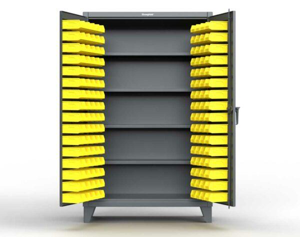 12 GA Industrial Bin Storage Cabinet with 4 Shelves