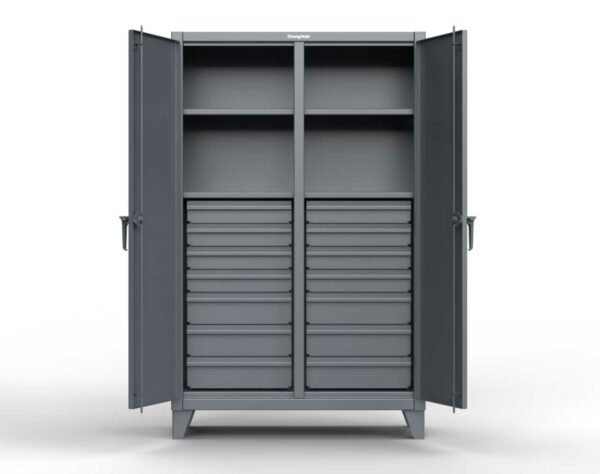 12 GA Industrial Double Shift Cabinet - 16 Drawers