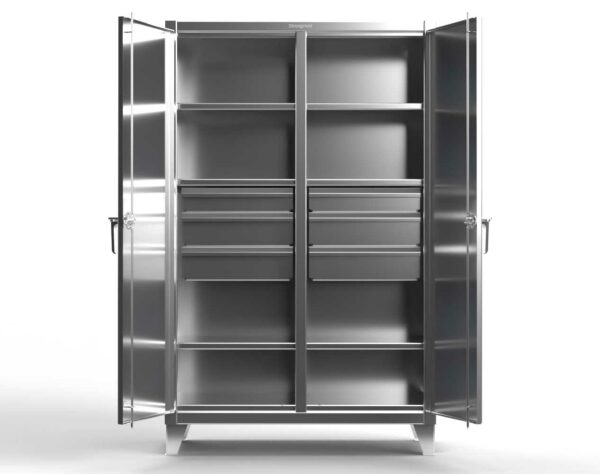 12 GA Stainless Steel Double Shift Cabinet