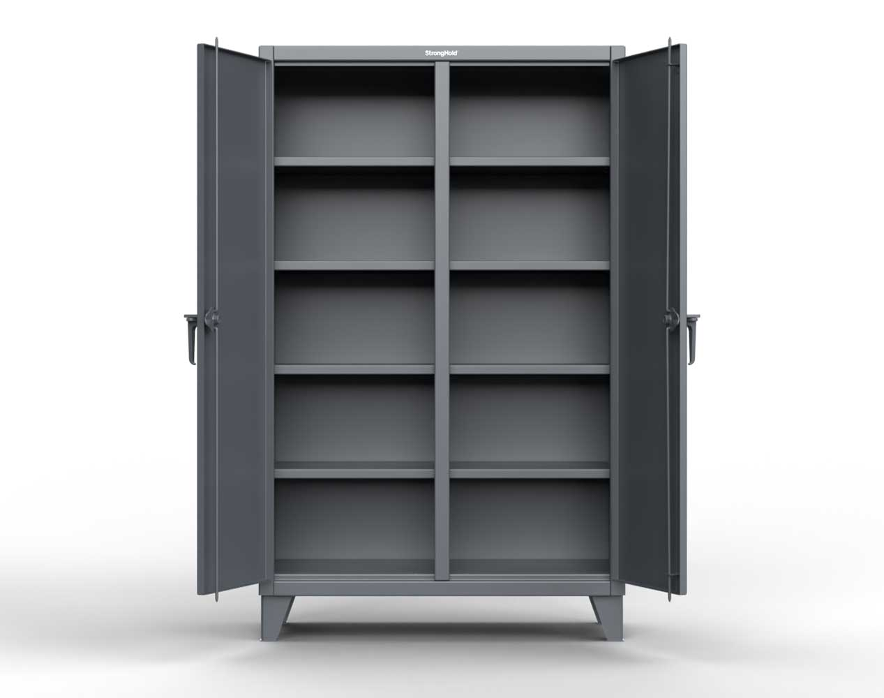 Extra Heavy Duty 12 GA Double Shift Cabinet with 8 Shelves – 60 In. W x 24 In. D x 78 In. H