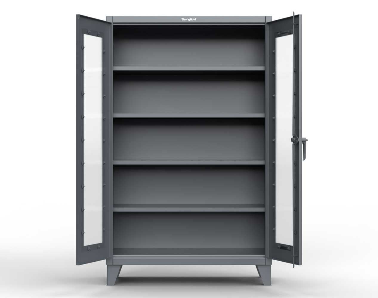 Extreme Duty 12 GA Scratch Resistant Clearview Cabinet with 3 Shelves – 48 In. W x 24 In. D x 66 In. H