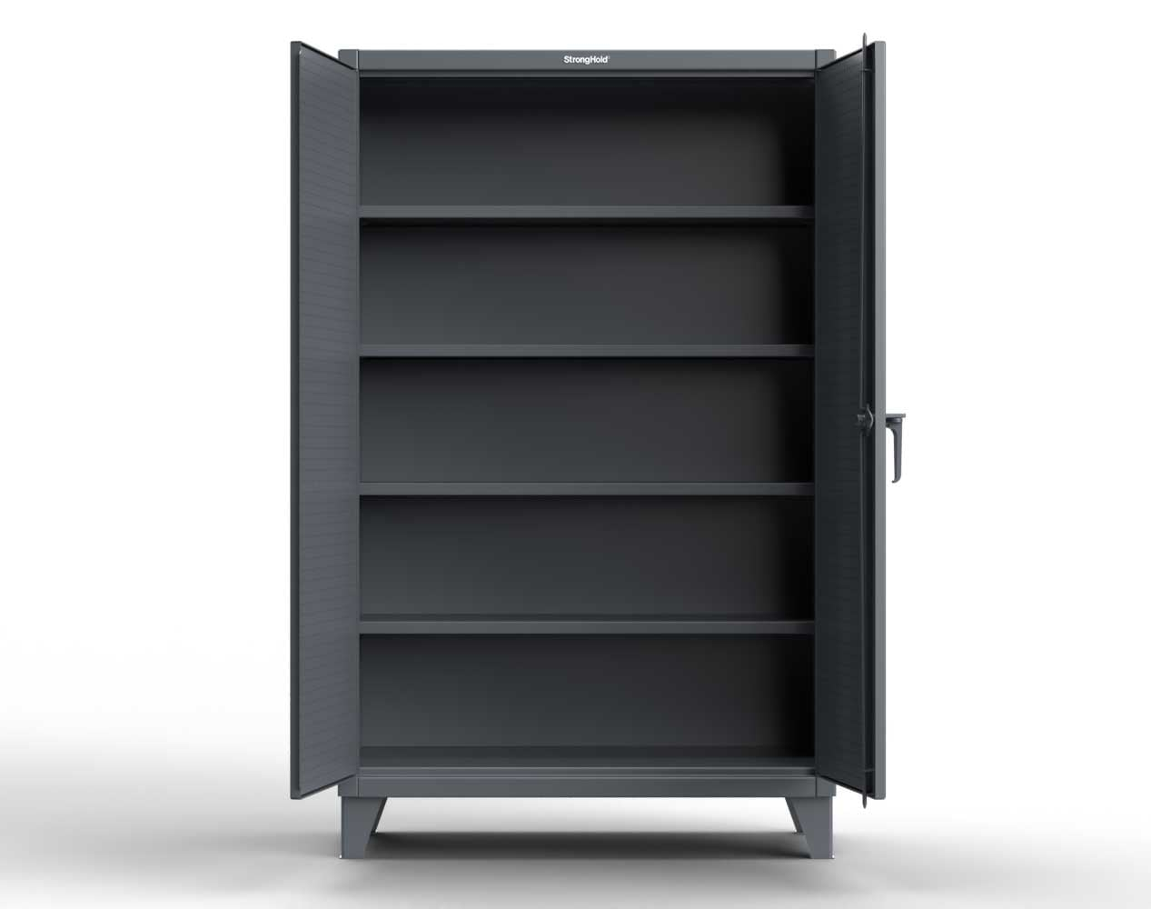 Extra Heavy Duty 12 GA Cabinet with Pegboard Doors, 4 Shelves  – 72 In. W x 24 In. D x 78 In. H