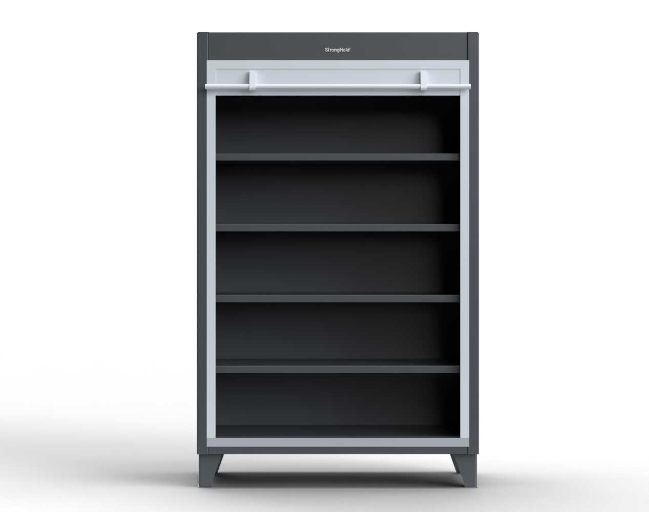 Extra Heavy Duty 12 GA Cabinet with Roll-Up Door, 4 Shelves – 60 In. W x 24 In. D x 78 In. H