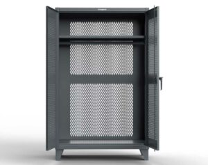 Fully Ventilated Uniform Cabinet with Hanger Rod