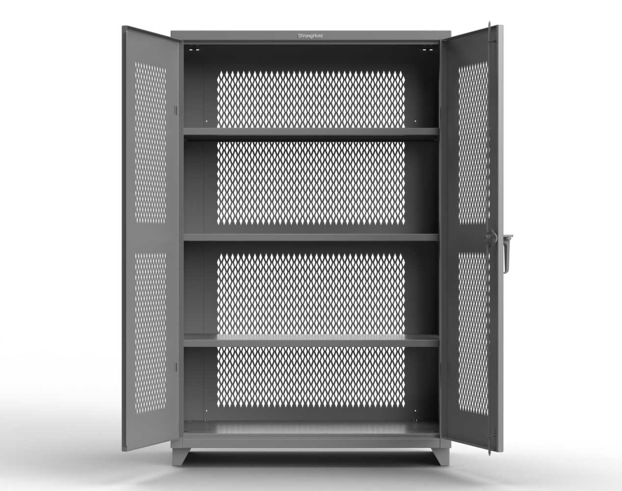 Extra Heavy Duty 14 GA Fully-Ventilated Cabinet with 3 Shelves – 48 In. W x 24 In. D x 75 In. H
