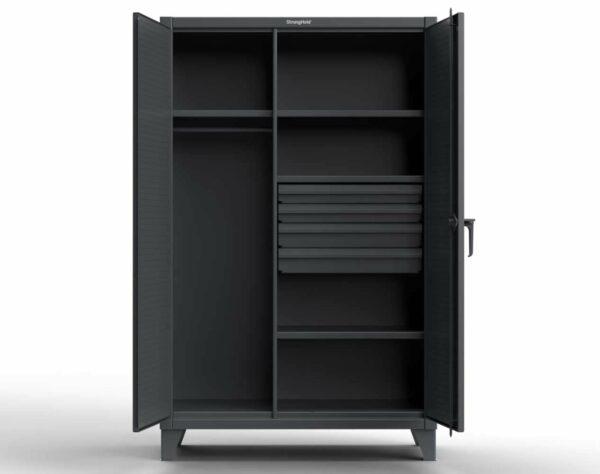 Industrial Uniform Cabinet - 4 Drawers & Pegboard