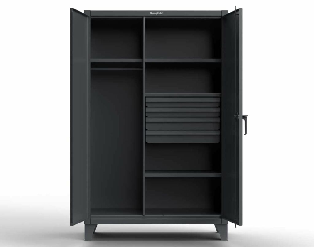 Industrial Uniform Cabinet with 4 Drawers