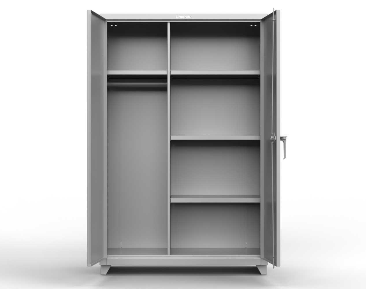 Heavy Duty 14 GA Wardrobe Cabinet with 5 Shelves – 36 In. W x 24 In. D x 75 In. H