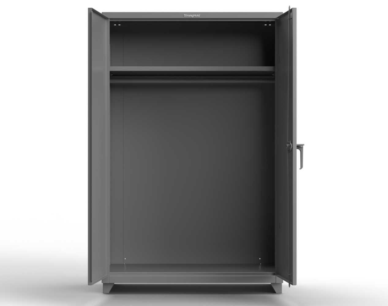 Heavy Duty 14 GA Wardrobe Cabinet with Hanger Rod, 1 Shelf – 36 In. W x 24 In. D x 75 In. H