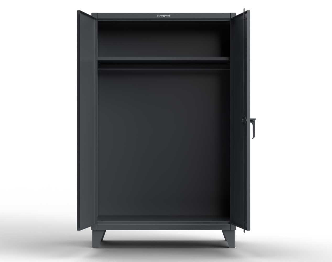 Extreme Duty 12 GA Uniform Cabinet with Hanger Rod, 1 Shelf – 60 In. W x 24 In. D x 78 In. H