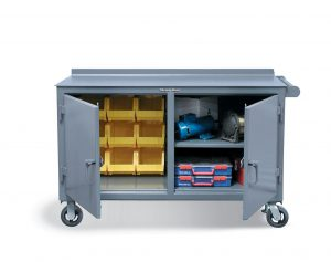 Double Shift Tool Cart with 7 GA Top and Bins