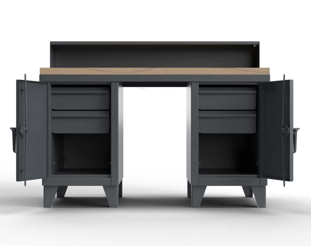 12 GA Extra Heavy Shop Desk with a 1 3/4 in. Maple Top