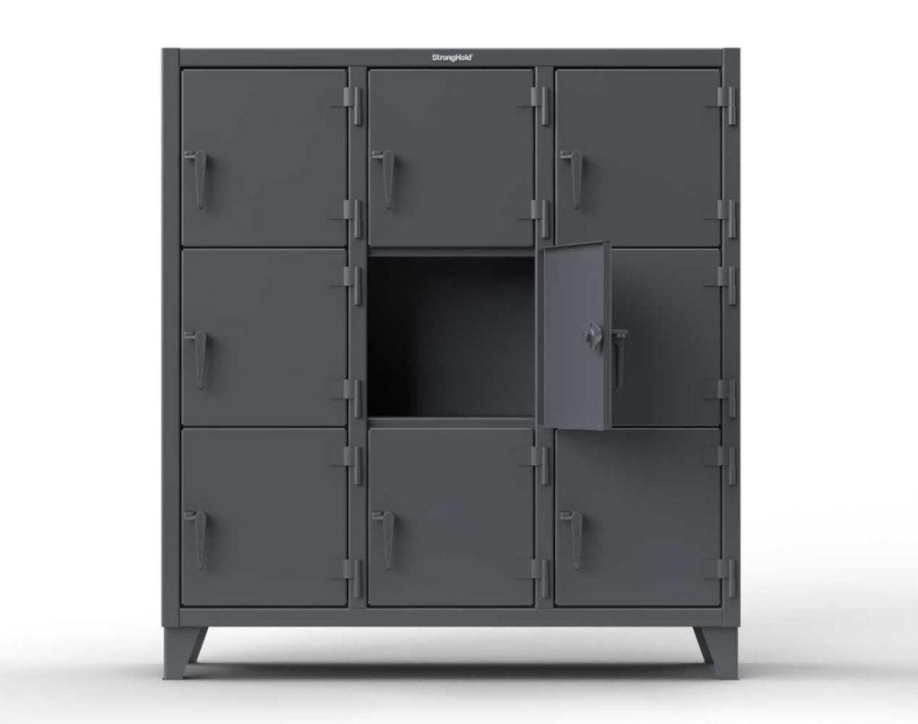 Triple-Tier Locker - 6 Compartments