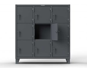 Triple-Tier Locker - 3 Compartments